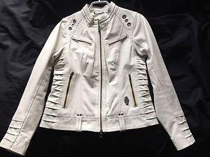 White leather Harley Davidson jacket.