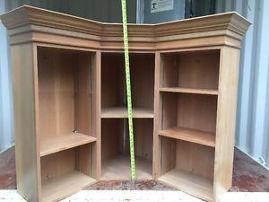 Wood Corner Unit