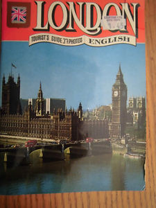 tourist book right from London, England