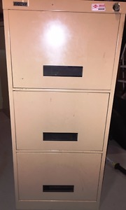 2 Filing cabinets and a storage cabinet