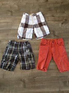 3 pairs boys shorts size 6