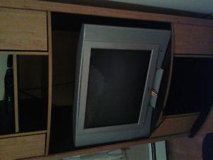 """32 """" older style tv and stand"""