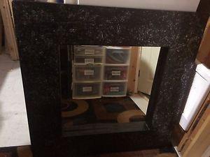 """36""""x36"""" black heavy duty wooden mirror for sale"""