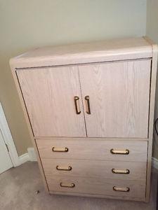 Bedroom Dresser, Armoire and Nightstand Set