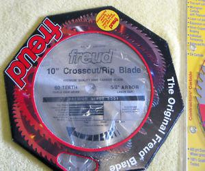 "Brand new, SAVE $70 Freud 10"" Saw Blade"