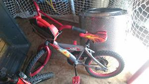 """Cars themed bike with 16"""" wheels"""