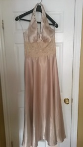 Champagne bridesmaid or prom dress