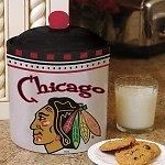 Chicago Blackhawks Gameday Ceramic Cookie Jar (New)