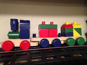 Children's Wooden Train