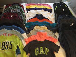 Large lot of boys size 6&7 clothing