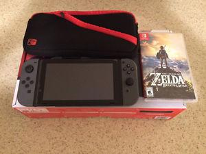 Like New Nintendo Switch with Zelda, Case, Screen Protector