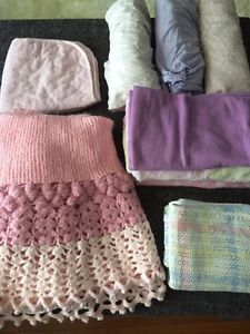 Lot of Blankets & Crib Sheets
