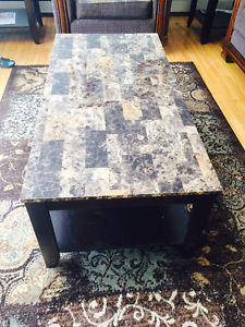 Matching coffee table and end tables