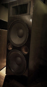Pair Of Large Custom Home Made Two Way Speaker Tower