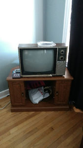 Tube TV and TV Stand