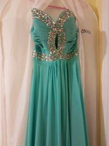 Turquoise Prom gown
