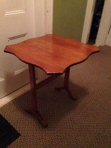 "Vintage Maple Tilt Top Table, 22.5"" x 22.5"" x 24.5"""