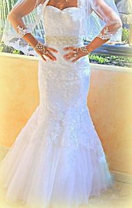 White Wedding dress for sale BRAND NEW.