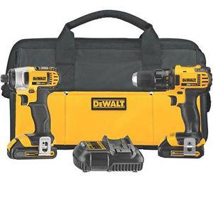 brand new DEWALT 20v lithium ion Drill Set, retails