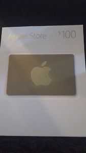$100 Apple Store Gift Card