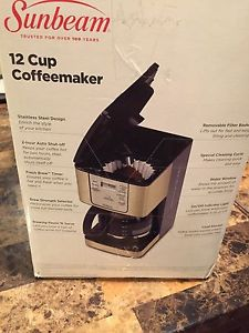 12 cup coffee maker sunbeam