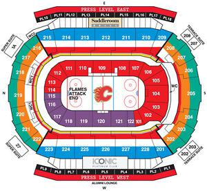 2 Tickets To Flames VS Ducks! Must Sell!! PL 14 Row 17