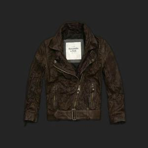"ABERCROMBIE & FITCH *JULIA* LEATHER JACKET ""Brand New""..."