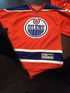 Authentic Size Large Orange Oilers Jersey Brand new