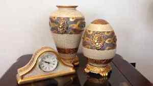 Beautiful 3 piece hand painted decorative set