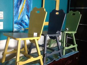 Blue, green, and yellow chair $25 each