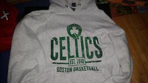 Boston Celtics Grey NBA Gear Hoodie Like New size L