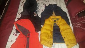 Boys Vests: 3 Gap and 1 Roots (See desc for prices/sizes)