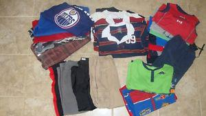 Boy's clothing package (for age 6/7) including Oilers hoody
