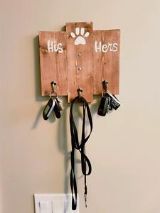 Custom wood key hangers