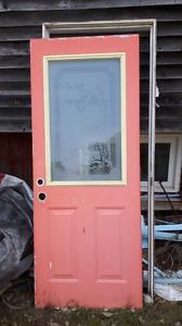Exterior steel door.