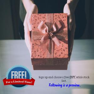 FREE PROMOTION - Sign up and choose a free gift!