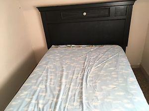 Full size mattress,box, headboard and frame $250 OBO