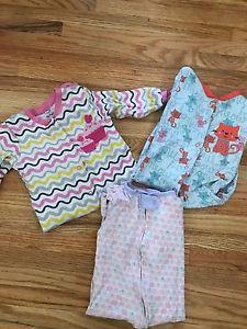 Girls 9. Month pyjamas.
