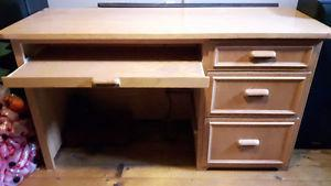 Home made Oak Computer Desk