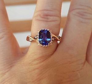 LeVian Blueberry Tanzanite ring, 14K Rose Gold,