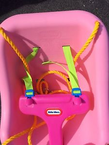 Little tikes baby swing pink, new