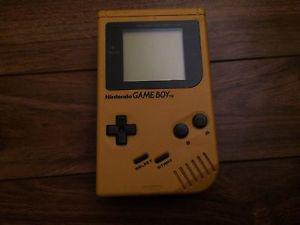 Original Yellow Gameboy with 6 Games and Case