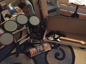 Rock Band and Guitar Hero for sale!