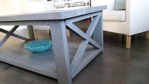 Rustic Handmade Coffee table with 2 End tables $400