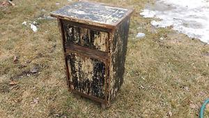 Rustic Weathered End Table