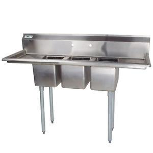 SINK 3 Compartments Commercial New For Sale