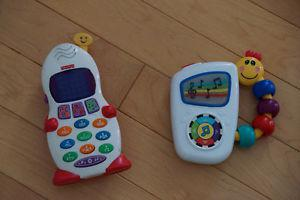 Set of Three Toys - Puzzle, Music Player and Phone