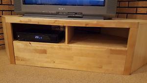 Solid IKEA Corner TV Stand