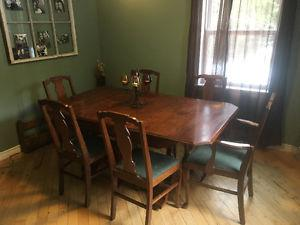 Solid real wood kitchen table and chairs