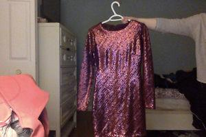 Sparkly dark red dress. Tight fitted. Never worn.